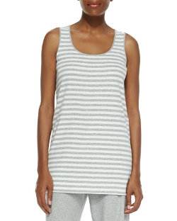 Striped Cotton Tank Top by Joan Vass in Ted 2
