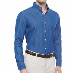 Long-Sleeve Button-Down Shirt by Brunello Cucinelli in Scream Queens