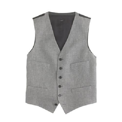 Ludlow Suit Vest In Italian Linen-Cotton by J. Crew in The Great Gatsby