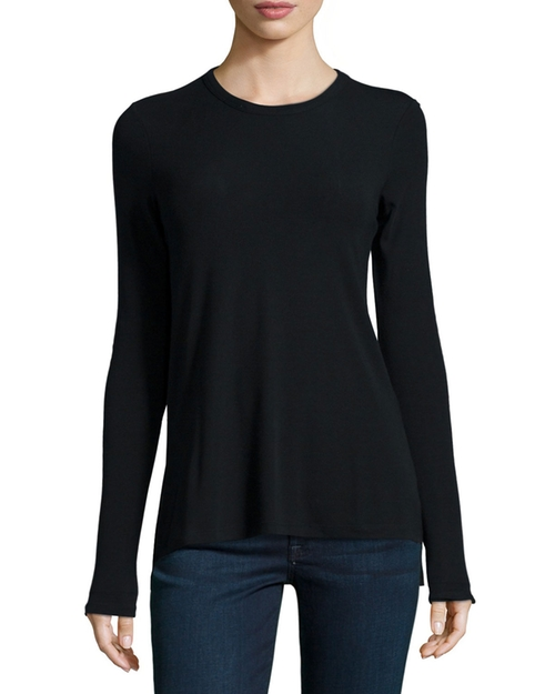 Alier Ribbed Long-Sleeve Tee by Theory in Sicario