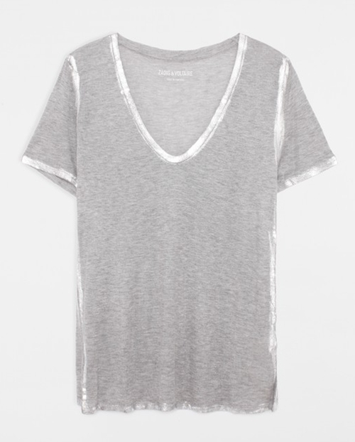Tino Foil T-Shirt by Zadig & Voltaire in Arrow
