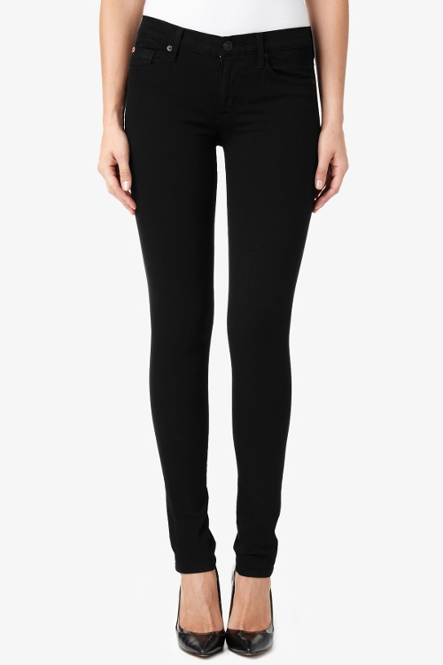 Shine Mid-Rise Skinny Jeans by Hudson in Trainwreck