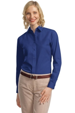 Long Sleeve Value Poplin Shirt by Port Authority in Captive