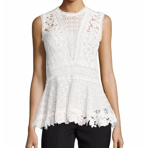 Mixed-Lace Peplum Top by Rebecca Taylor in Empire - Season 3 Episode 1