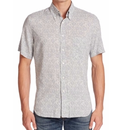 Tuscumbia Aquatic Print Sportshirt by Billy Reid in Lethal Weapon