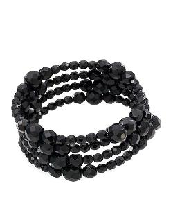 Jet Black Crystal 3-row Bracelet by Carolee in The Other Woman