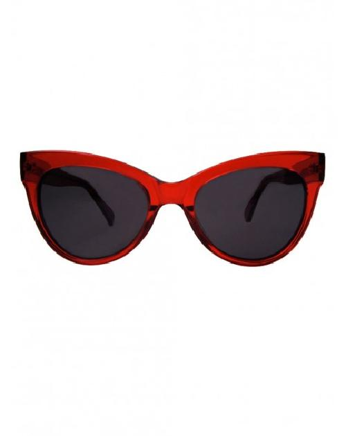 Square Cat Eye Sunglasses / Red by Kamali Kulture in Walk of Shame