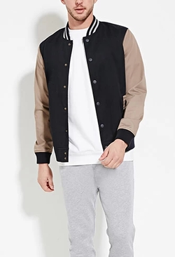 Varsity-Striped Baseball Jacket by 21 Men in Cabin in the Woods