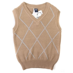 Boys Sweater Vest by Girandola in Black-ish