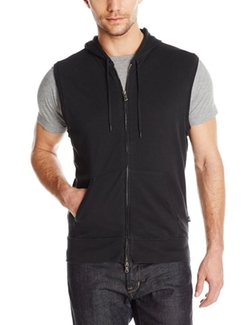 Men's Sleeveless Knit Zip Hoodie by John Varvatos Star USA in Popstar: Never Stop Never Stopping