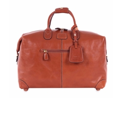 Pelle Cognac Cargo Duffel Bag by Bric's in Empire