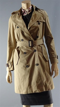 Double Breasted Trench Coat by Zara Basic in Poltergeist