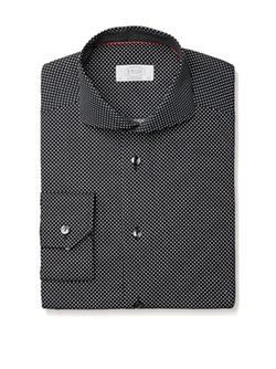 Contemporary Fit Dotted Modern Spread Collar Dress Shirt by Eton in Master of None