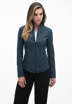 Brielle Leather Moto Jacket by Danier in Arrow