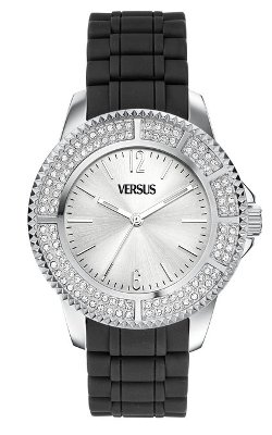 Women's Stainless Steel Silver Sunray Dial Crystals Watch by Versus by Versace in Fast & Furious 6