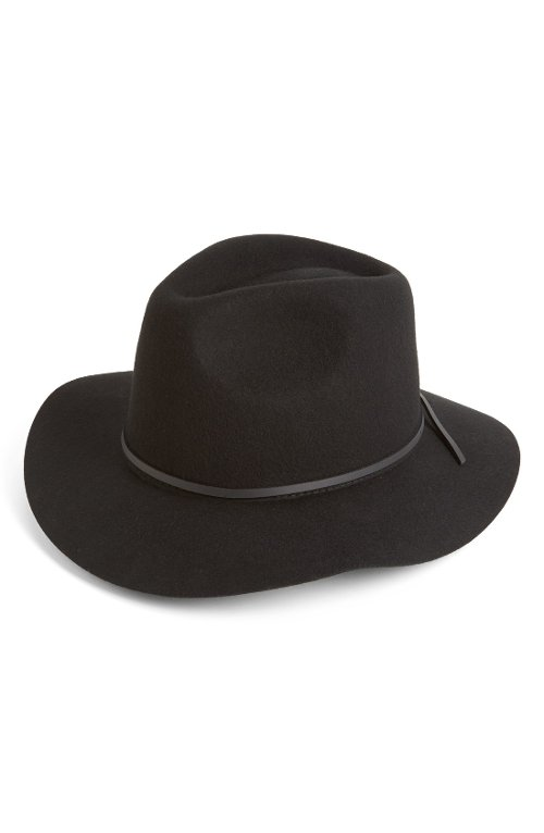 'Wesley' Wool Fedora Hat by Brixton in While We're Young