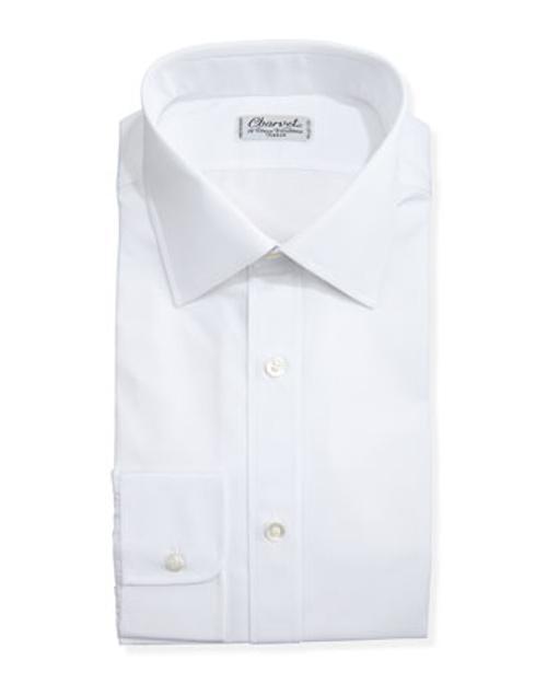 Solid Poplin Dress Shirt by Charvet in Mortdecai