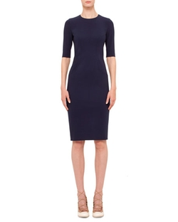 Jewel-Neck Sheath Dress by Akris Punto in Lady Dynamite