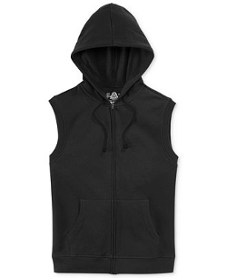 Sleeveless Fleece Hoodie Jacket by American Rag in Entourage