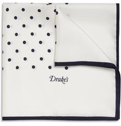 Polka-Dot Silk Pocket Square by Drake's in Ballers