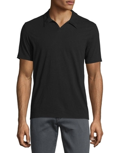 Johnny-Collar Short-Sleeve Polo Shirt by John Varvatos Star USA in Ballers