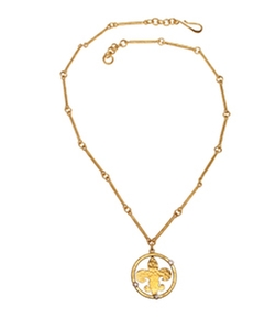 Fleur De Lys Necklace by Evelyn Knight in Bridesmaids