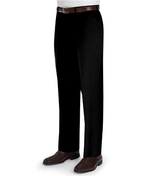Signature Wool Gabardine Plain Front Trouser by Jos A. Bank in Hall Pass