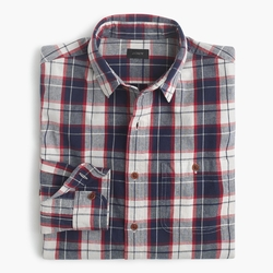 Rustic Cotton Loyola Plaid Shirt by J.Crew in Modern Family