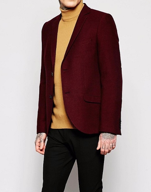 Herringbone Blazer by Heart & Dagger in Urge