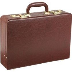 Expandable Executive Faux Leather Attache Case by AmeriLeather in The Secret Life of Walter Mitty