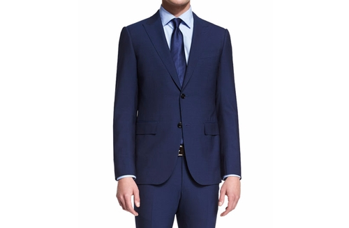 Torino Peak-Lapel Two-Piece Wool Suit by Ermenegildo Zegna in Suits - Season 6 Episode 10