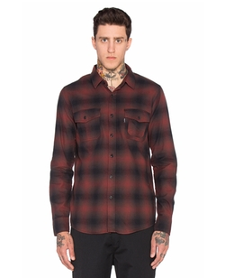 Slauson Plaid Button Down Shirt by Huf in Guilt