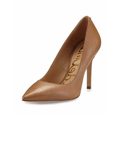 Hazel Pointed-Toe Leather Pumps by Sam Edelman in Suits