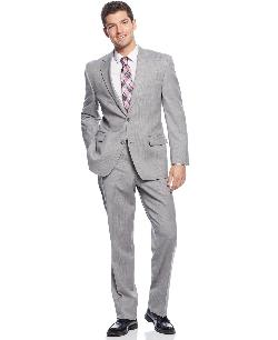 Suit Light Grey Stripe by Michael Michael Kors in The Wolf of Wall Street