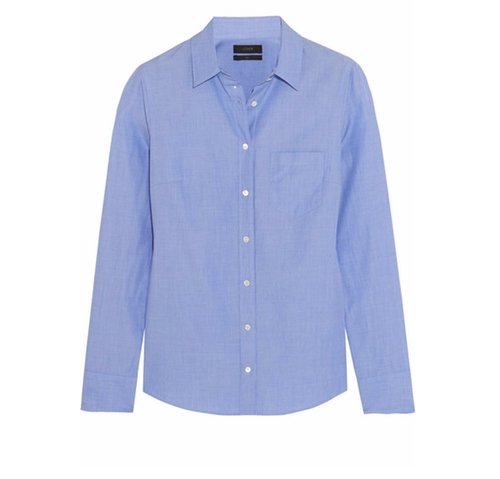Cotton-Poplin Shirt by J.Crew in The Boss