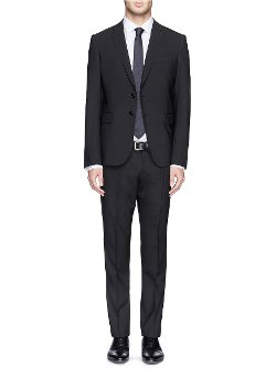 Virgin Wool Blend Suit by Armani Collezioni in Top Five