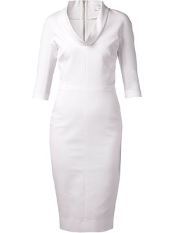 High Neck Fitted Dress by Victoria Beckham in Suits