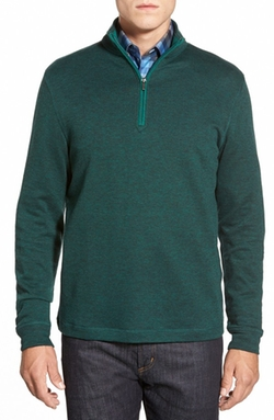 Quarter Zip Pullover by Bugatchi in Love the Coopers
