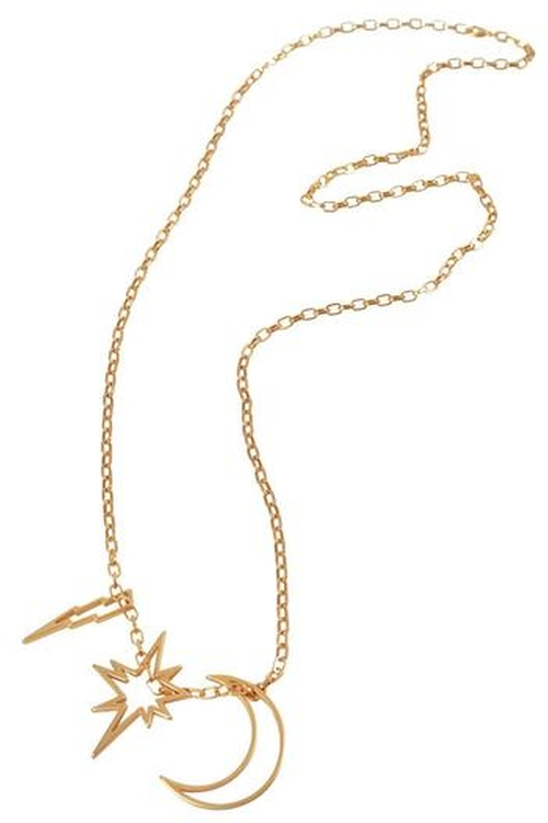 Long Charm Necklace by Wren And Glory in Pretty Little Liars - Season 6 Episode 8