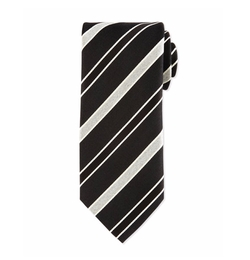 Striped Silk Satin Tie by Eton in Live By Night