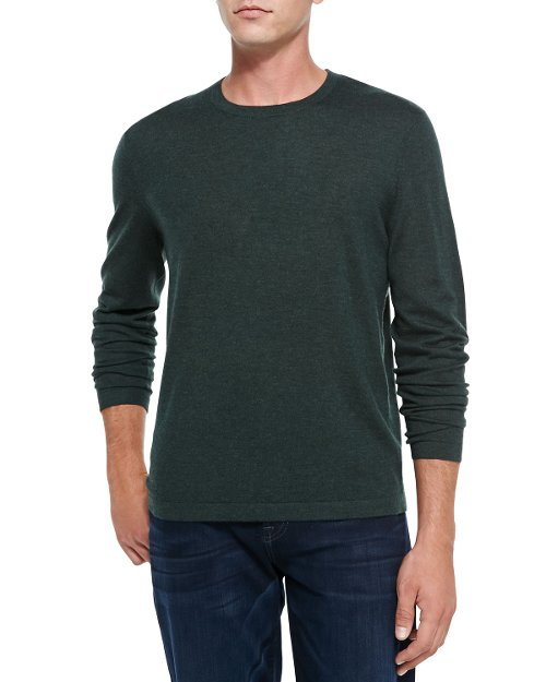 Superfine Cashmere Crewneck Sweater by Neiman Marcus in That Awkward Moment