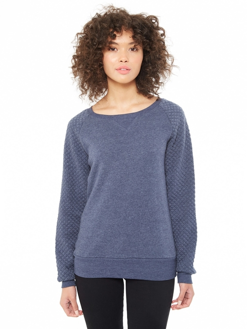 Light French Terry Quilted Crew Neck Sweatshirt by Alternative in Pretty Little Liars - Season 6 Episode 2