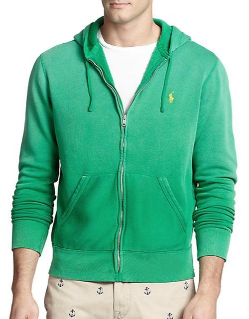 Full-Zip Fleece Hoodie by Polo Ralph Lauren in We Are Your Friends