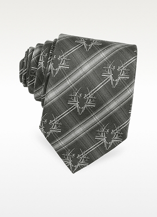 Bug Crest Woven Silk Narrow Tie by Givenchy in Fight Club