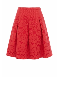 Floral Border Jacquard Skirt by Karen Millen in New Girl