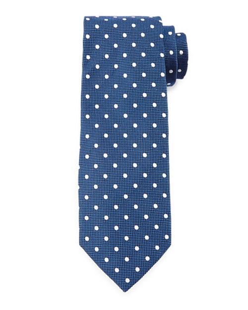 Mini-Dot Print Silk Tie by Tom Ford in Ballers - Season 1 Episode 9