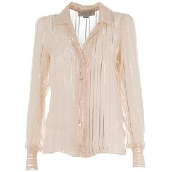 Nude Semi-Sheer Silk Shirt by Stella McCartney in Sex and the City 2