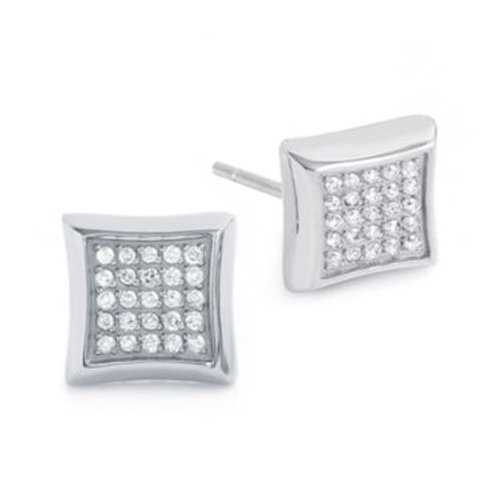 Diamond Stainless Steel Stud Earrings by CT. T.W. in Ballers - Season 1 Episode 9
