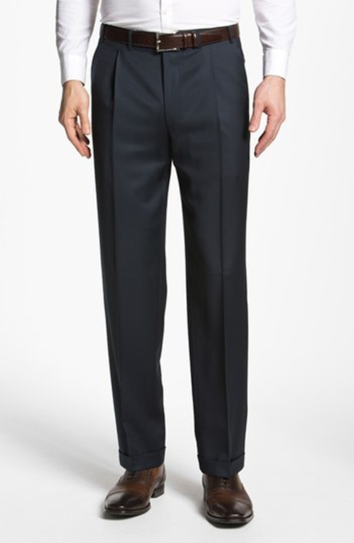 Pleated Trousers by Canali in She's Funny That Way