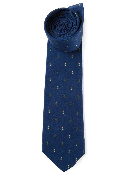 Pattern Jacquard Tie by Jean Louis Scherrer Vintage in Unfinished Business